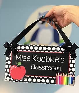 Kasefazem Teacher Gift For Women Classroom Decor, Red Apple Door Plaque Sign