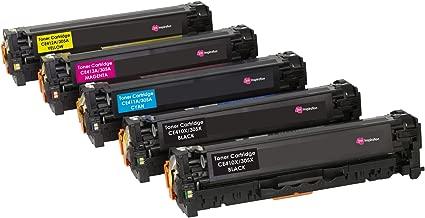 5 INK INSPIRATION® Tóners compatibles para HP LaserJet Pro 300 M351a MFP M375nw Pro 400 M451dn M451dw M451nw MFP M475dn M475dw | Reemplazo para HP CE410X 4000 páginas CE411A CE412A CE413A 2600 páginas