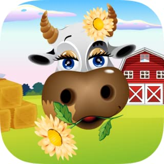 Kids Cow Farm Scratch Off Game - Amazing scratching game for kiddies, toddlers, youngsters and preschool boys & girls - Discover farm type images of animals, hay, barns and more!