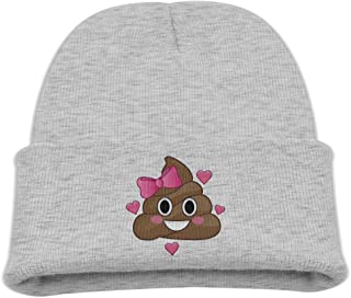 ZWZ Cute Funny Poop Pink Bow Cutie Kid's Hats Winter Funny Soft Knit Beanie Cap, Unisex