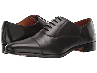 CARLOS by Carlos Santana Legacy Oxford (Black Full Grain Calfskin Leather) Men
