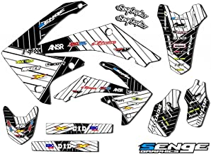 Senge Graphics Kit Compatible with Honda 2004-2010 CRF 80/100 Race Series White Graphics kit