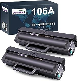 OfficeWorld W1106A Cartucce Toner Ricambio per HP 106A W1106A (2 Nero, con Chip) Compatibile con HP Laser MFP 137fnw 137fw...