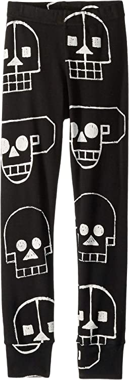 Skull Robot Leggings (Toddler/Little Kids)
