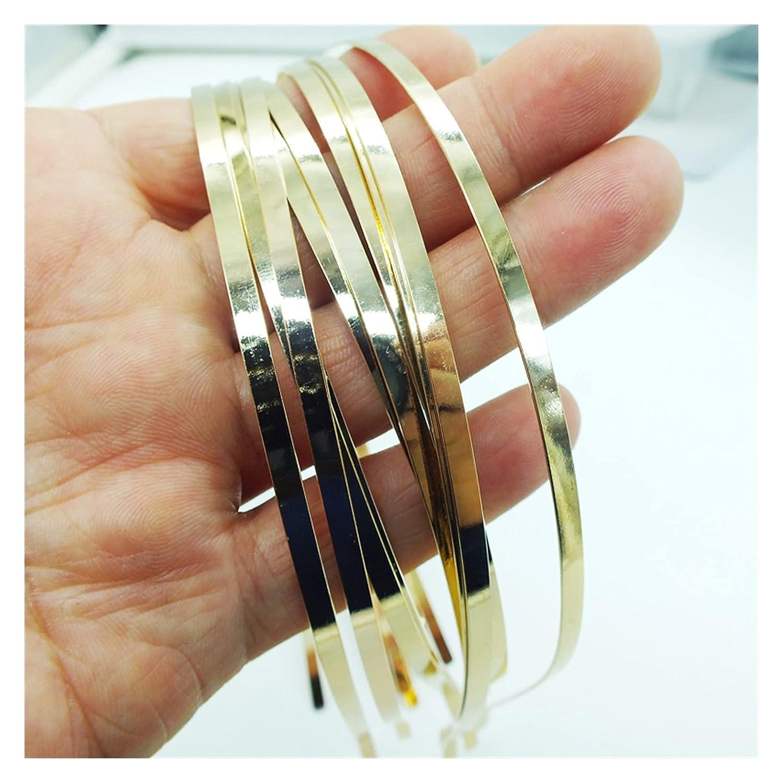 Headbands 500piece Blank Plain Metal Headband 6mm Hair Band For Hair Accessories DIY Craft (Metal color : 6mm)