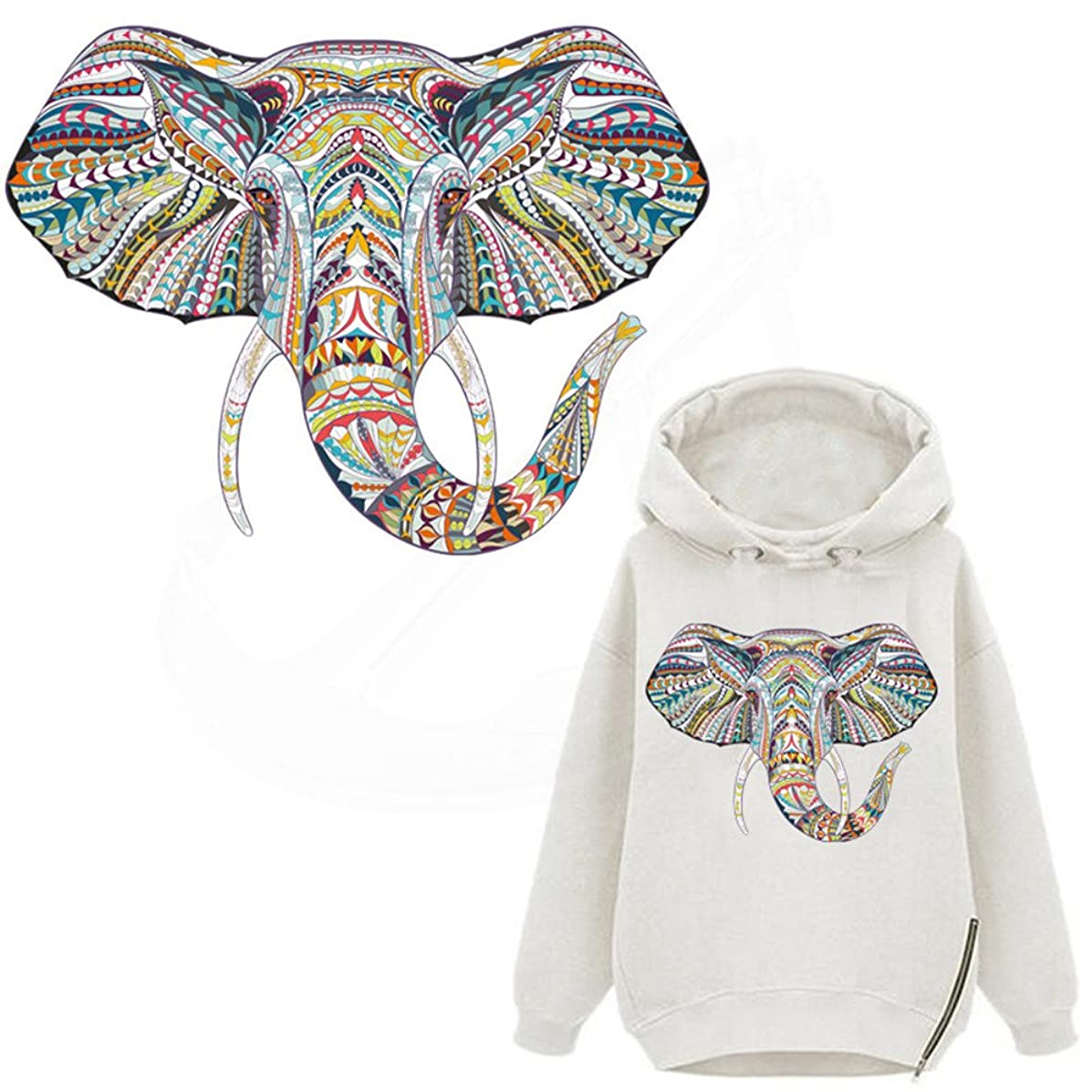 ARTEM Elephant Patches Sticker A-Level Washable Heat Press Appliqued for DIY T-Shirt Hoodie Transfer Paper