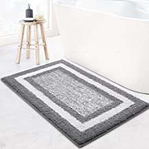 KMAT Ultra Bathroom Rugs and Bath Mat,Fluffy Soft Microfiber Machine Washable Bath Mat,Non-Slip and Super Absorbent Shaggy...