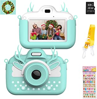 Themoemoe Kids Digital Camera Childrens Camera, Touch Screen Video Photo Camera for Kids Rechargeable Toddler Camera with ...