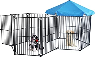 LEMKA Heavy Duty Dog Playpen Dog Kennel, Pet Dog Exercise Playpen Foldable Dog Steel Crate Wire Metal Cage 6/10 Panels - 48/60 inches