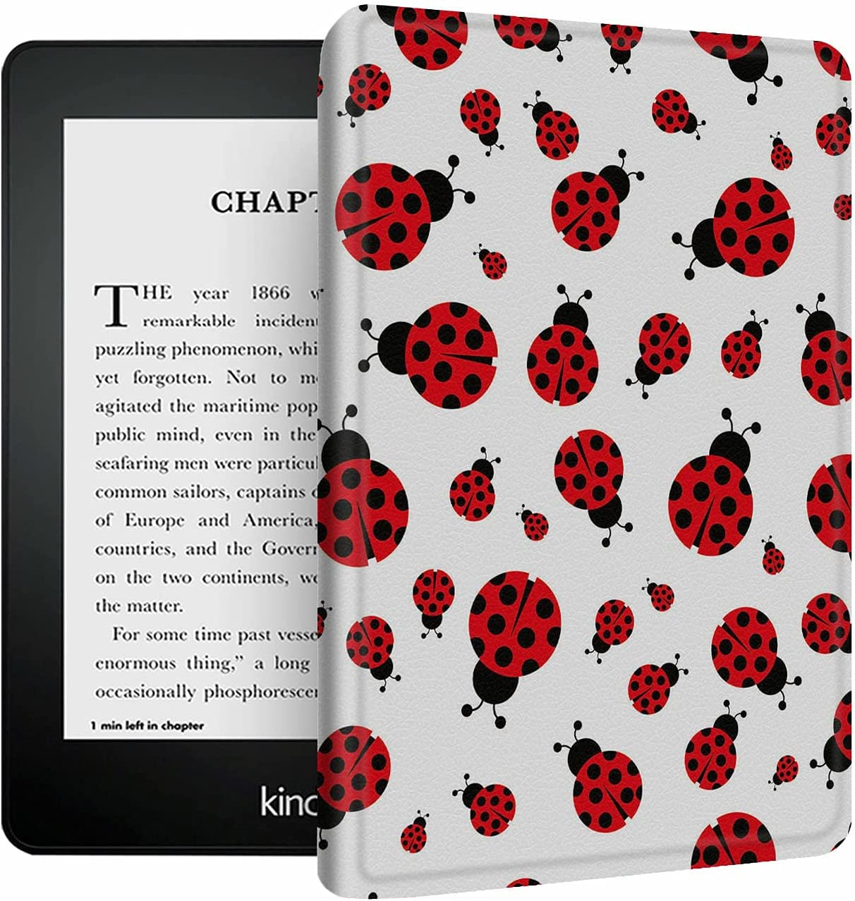 Case for Kindle Paperwhite 4 2018 Stand shopping Leather PU Miami Mall Protect Shell