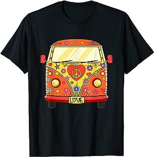 Hippie Mobile T-shirt Flower Power Peace Love Bus T-Shirt