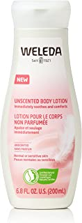 Weleda Calming Unscented Body Lotion, 6.8 Fluid Ounces, Plant Rich Moisturizer with Jojoba Oil and Coconut Oil