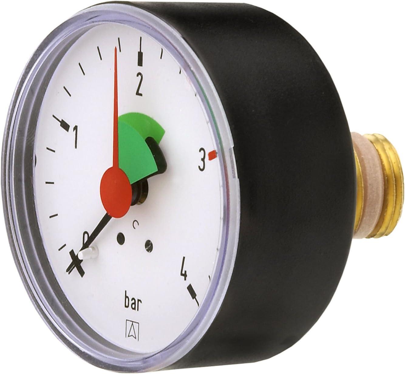 Cornat T593701 Manometer 0 4 Bar Selbstdichtend Für Anschluss Von Hinten 3 8 Zoll Baumarkt
