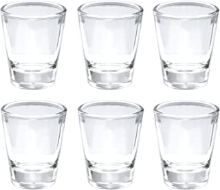 Thirsty Rhino Karan, Round 1.5 oz Shot Glass with Heavy Base, Clear Glass, Set of 6