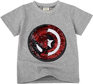 Camisetas Lentejuelas Mágico Reversibles Algodón Manga