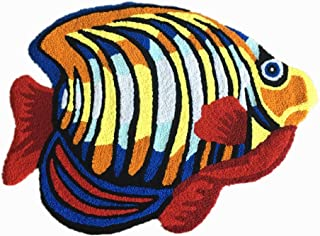 fish shaped rug