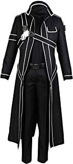 Cosplay Costume Kirito Black Jacket Coat Full Sets Professional Customization