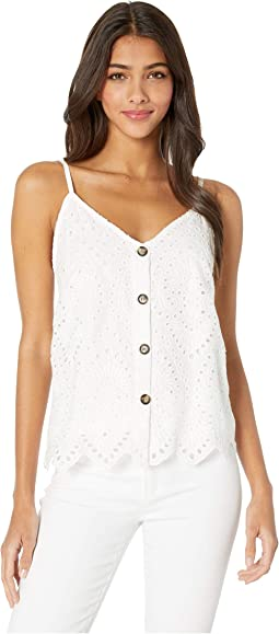 Button Up Eyelit Cami