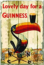 Froy Lovely Day For A Guinness Pared Cartel de Chapa Retro Hierro Cartel Pintura Placa Hoja de Metal Decoración de época Artesanías para Cafe Bar Garaje Inicio