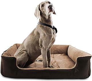 KOZI PET Dog/Cat Ultra Soft Filled Bottom Side Waterproof Reversible Bed Ethnic Designer Black/Beige-(Export Quality)-Small