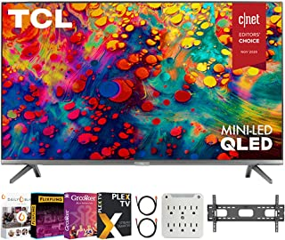 TCL 65R635 65 inch 6-Series 4K QLED Dolby Vision HDR Roku Smart TV Bundle with Premiere Movies Streaming 2020 + 37-100 Inc...