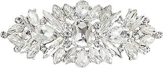 Silver Wedding Crystal Bridal Brooch Pin Ribbon Sash Belt Brooches