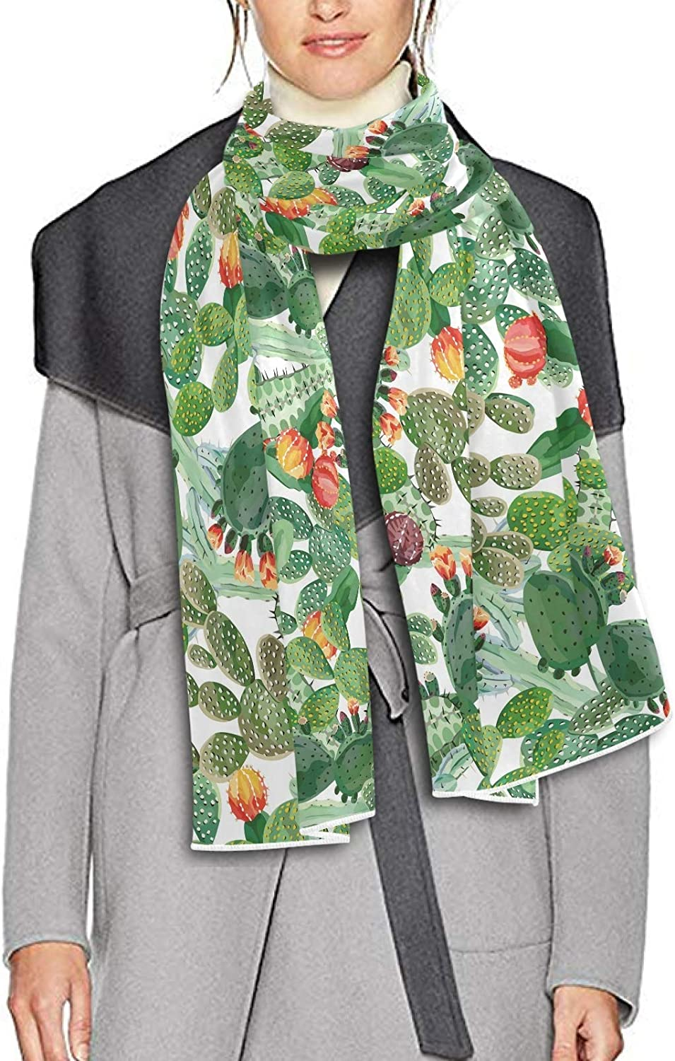 Scarf for Women and Men Cactus Flowers Blanket Shawl Scarf wraps Soft warm Winter Oversized Scarves Lightweight