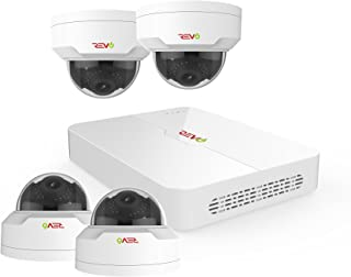 Revo America Ultra 4Ch. 1TB HDD 4K IP NVR Security System - Fixed Lens IP Cameras 4 x 4MP Mini Vadal Dome Cameras - Remote Access via Smart Phone, Tablet, PC & MAC