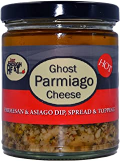 Ghost Pepper Parmiago Cheese - Parmesan & Asiago Marinated Cheese Dip, Spread & Topping by Just Enough Heat