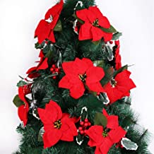 BXzhiri Christmas Decoration 2m Flower Vine Christmas Tree Red Rattan Decoration Holiday Decorations Christmas Ball Ornaments Christmas