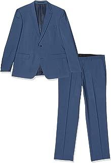 SELECTED HOMME Slhslim-Kaleb Navy Check TRS B Noos Pantaloni Completo Uomo