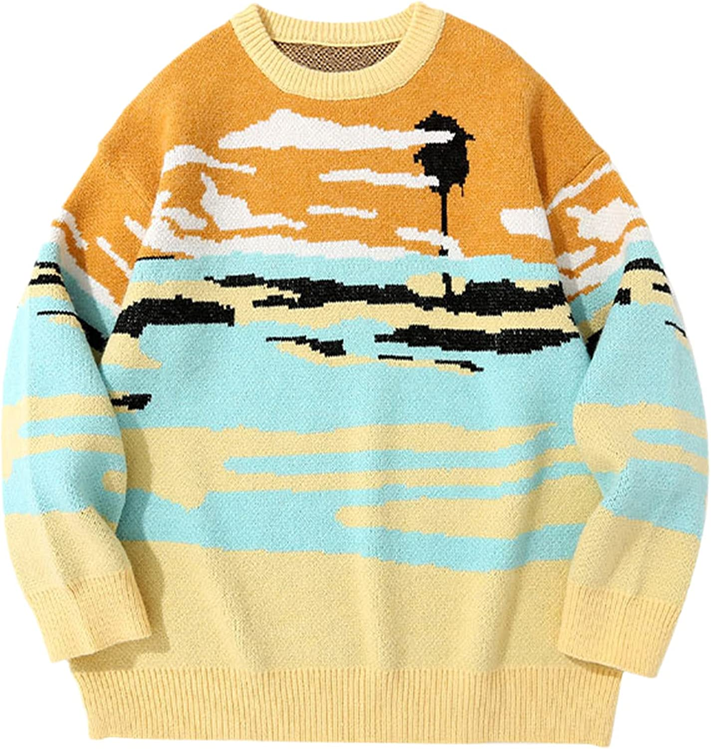 Sweaters Streetwear Hip Hop Knitted Stripe Pullover Jumpers Harajuku Fashion Casual Knitwear Mens Tops Outerwear