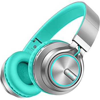 Picun Wireless Headphones 25 Hrs w/Colorful LED Light, HiFi Stereo Bluetooth 5.0 Headphones Over Ear w/HD Mic/Bag, Foldable, Wired/TF Card Mode for Cellphone Online Class Home Office Kids Adults