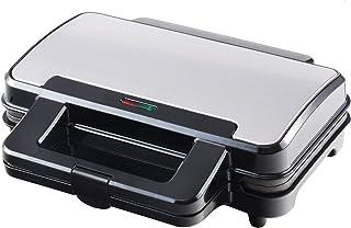 Venga! VG SM 3007 Appareil à sandwiches en acier inoxydable, métal et plastique, 900W, Noir