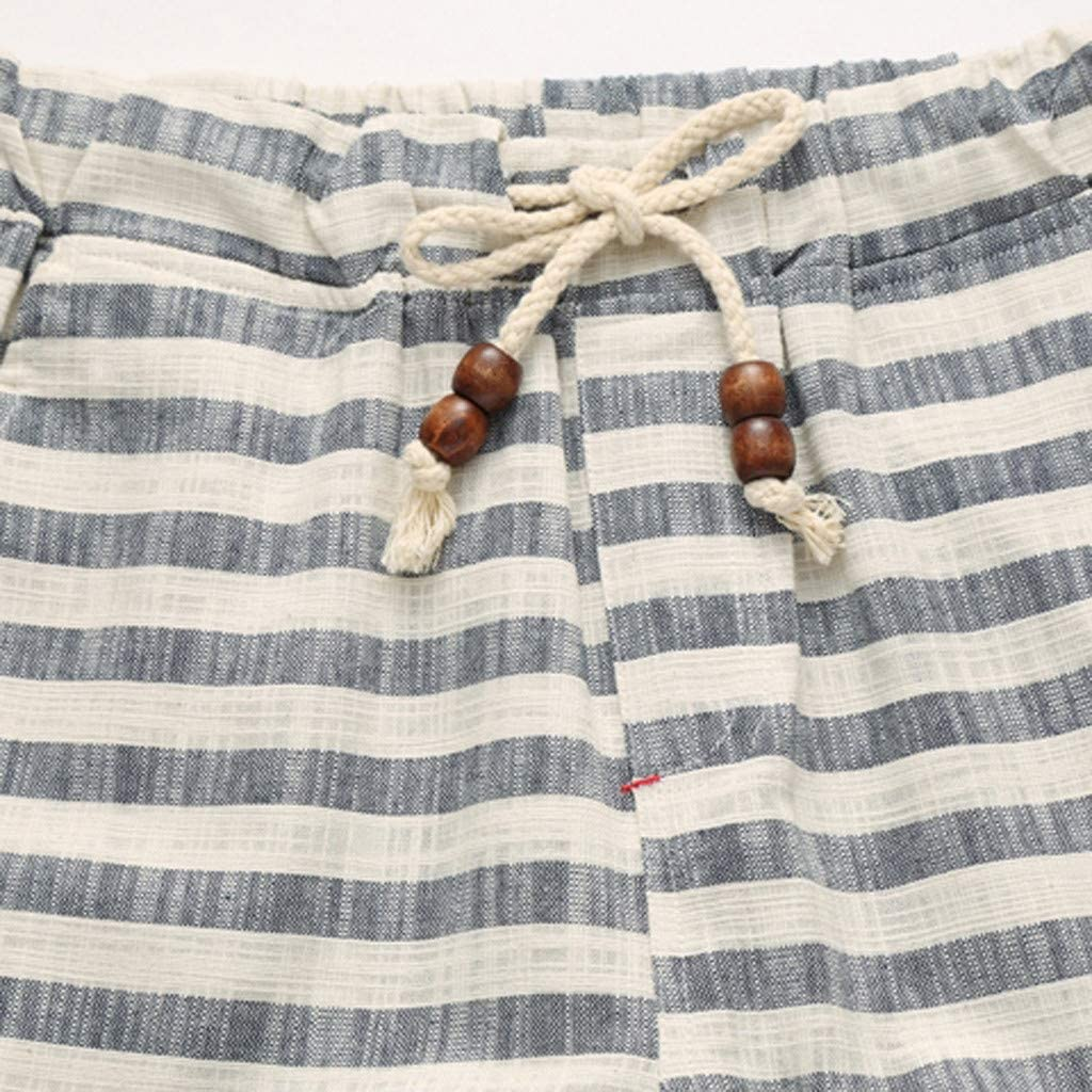 XL, Red Stripe Print Quick Dry Beach Short Pant QIUUE Casual Short Pants