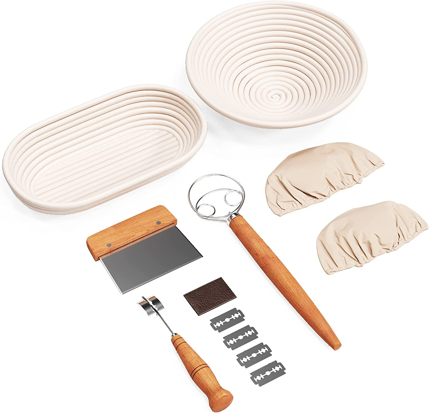 Bread Proofing Basket bundled with Lame Dough Free Shipping Cheap Bargain Gift Max 41% OFF Scraper and