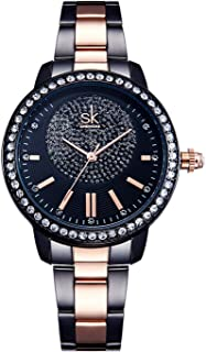 Women Watches Casual Fashion Waterproof Gold/Black Watches Diamond Rhinestone Wrist Quartz Watch