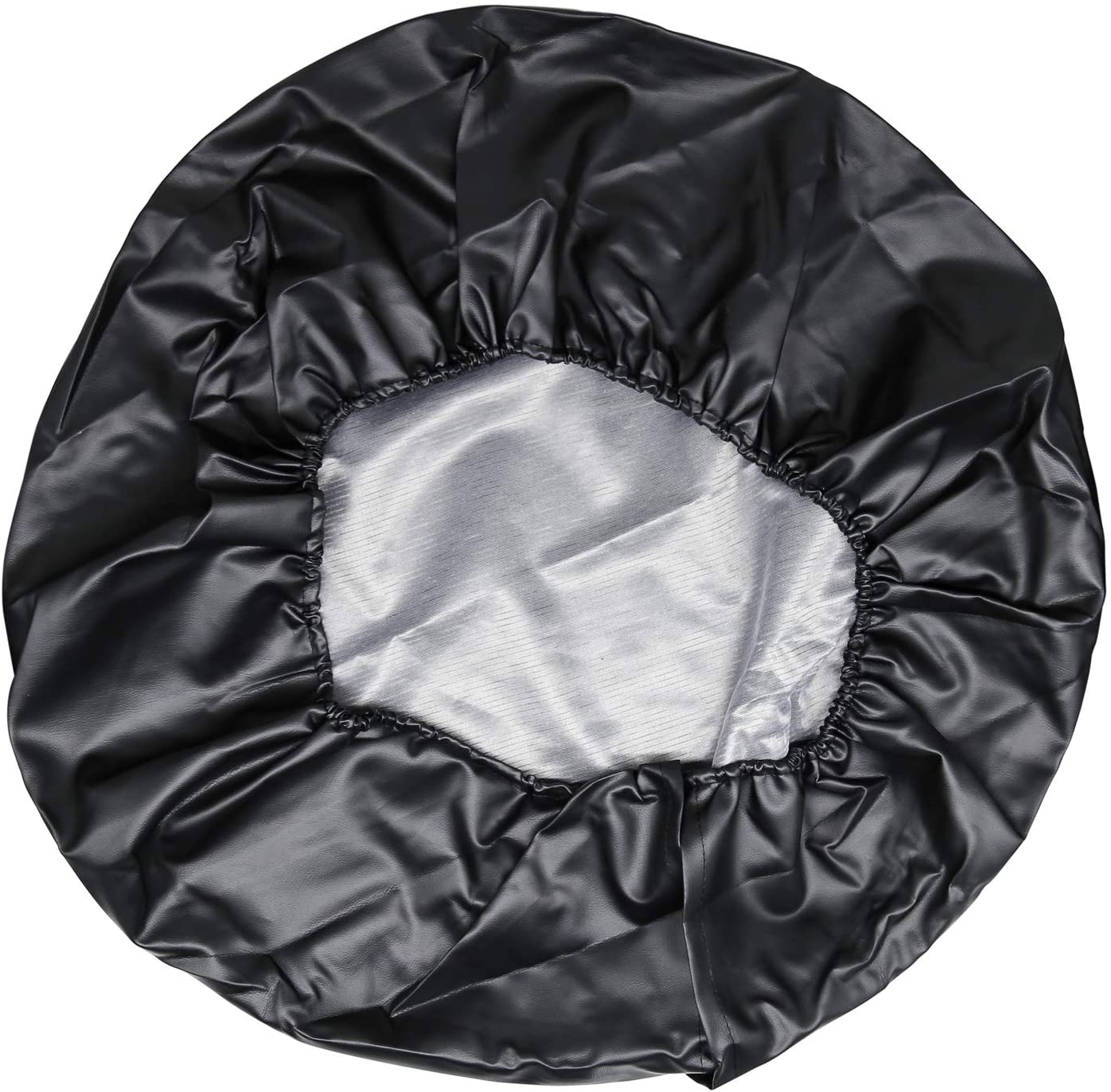RV Vozada Spare Tire Cover Universal Wheel Tire Cover Waterproof Dustproof Protector- for Trailer SUV and Many Vehicle Black, Diameter 22-23
