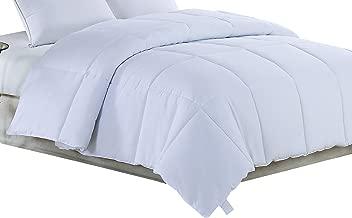 Polyester Medium Warmth Down Alternative Comforter Duvet Insert Twin White COMFORT-T-VX