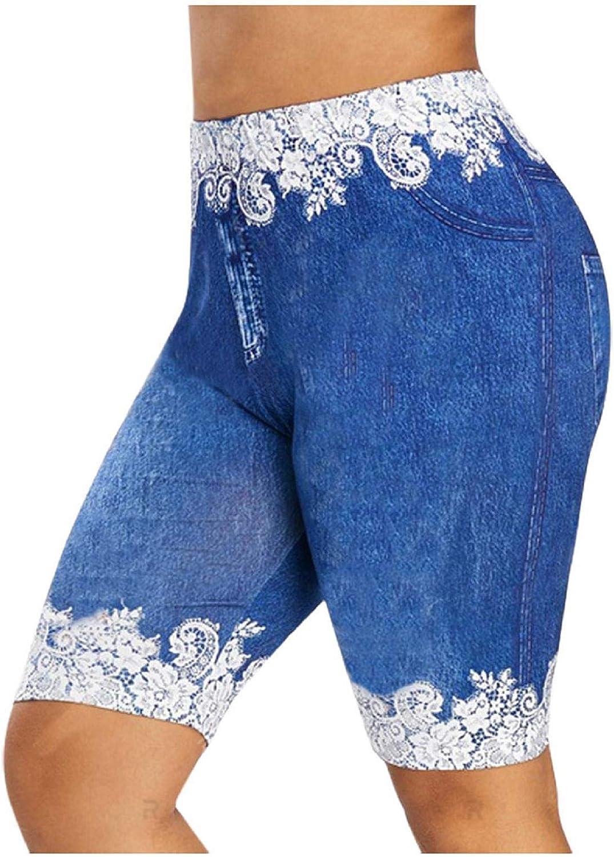 TOTOD mart Women Floral Design Shorts Slip Short Leggings Slim Recommended Basic