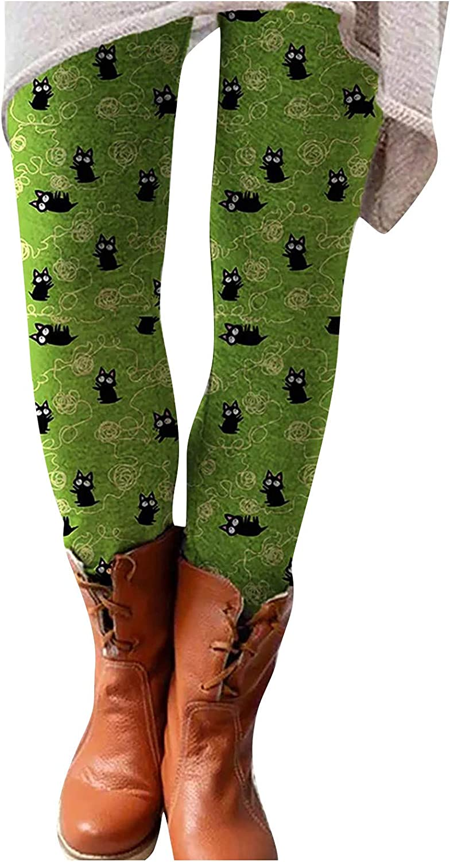 Gwewei4df Women Fashion Animal Print Leggings OFFicial site Columbus Mall Elastic Pants Wais