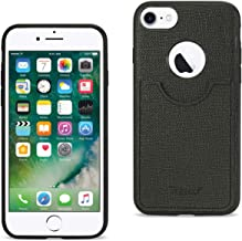 Reiko iPhone 8/ 7 Anti-Slip Texture Protector Cover With Card Slot In Black