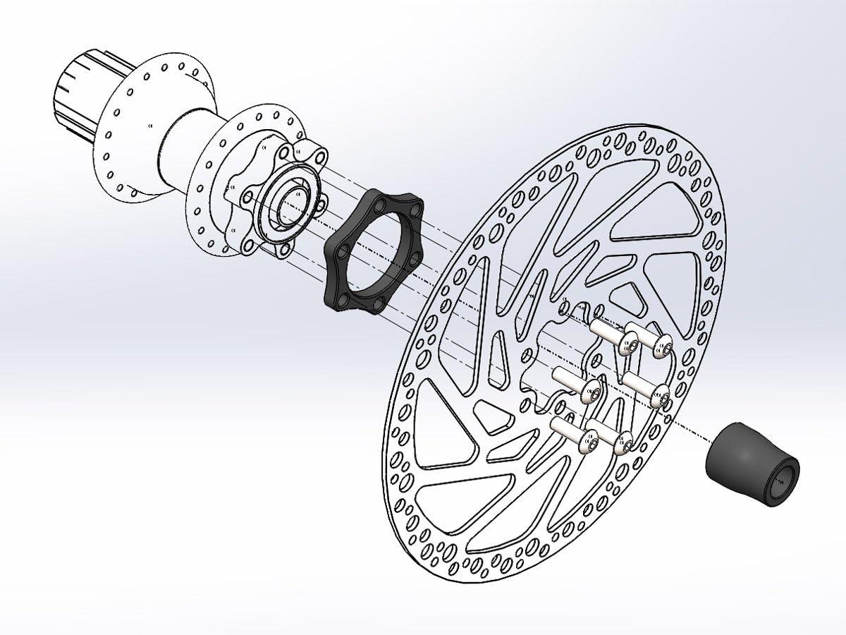 148 Boost Gabel Umbau ZTTO Front Hub Adapter Steckachse auf 15 110 bis 12