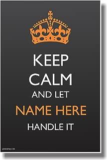 CUSTOM Keep Calm - Crown - NEW Customizable Humor Poster
