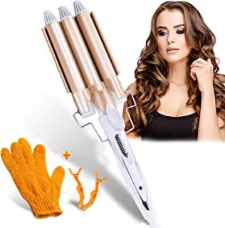Tailiqi 3 Barrel Curling Iron Wand, Hair Curler with Two