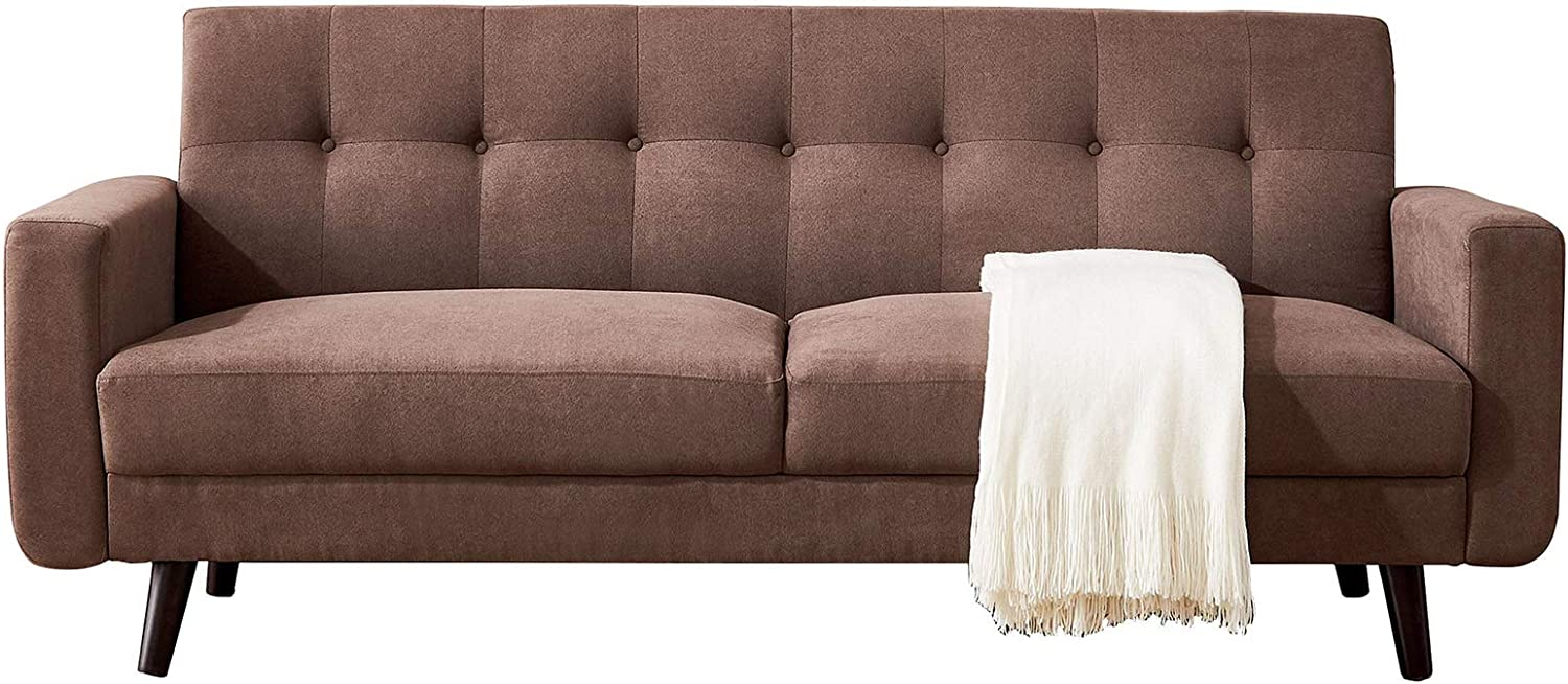 79 inch Time sale Mid-Century Max 57% OFF Modern Fabric Sofa Couch for Love Bed Seats