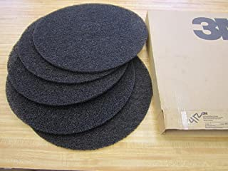 3M Low Speed High Productivity Black Floor Stripping Pad 7300 - Round, 20 inch Diameter, 0.5 inch Thick, Nylon, Perforated Center Hole, Removes Old Floor Finish - 5 per case.