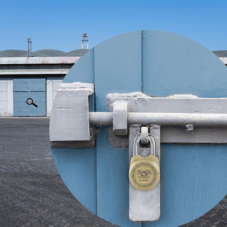 4 St/ück Schl/üssel Schule JDHON Vorh/ängeschloss Vorh/ängeschloss mit Schl/üssel Wetterfestes Zinklegierung Padlock Garage Container 65 f/ür Lager Z/äune Gym
