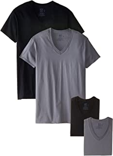 Fruit of the Loom Men's Premium V-Neck Tee (Pack of 4)