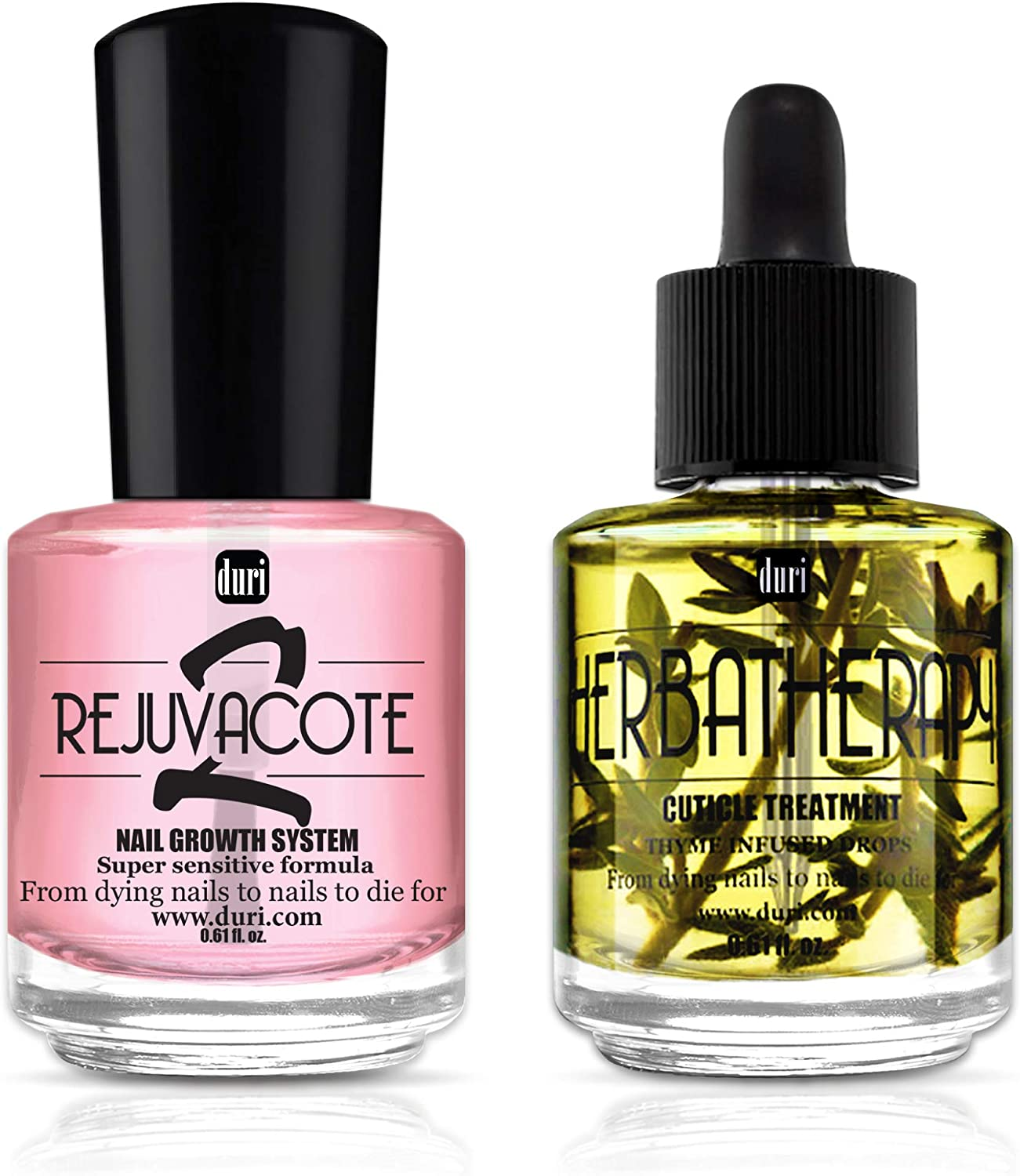duri 100% quality warranty! Rejuvacote 2 Nail Growth System Top Coat Gorgeous Herbathe Base and
